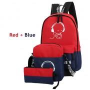 MC214 - Trending Cool Music Cartoon Backpack / 3 in 1 Cute Glowing in The Dark Color Mix Bag  GK1