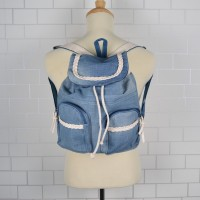 MC246 - Jeans Design Casual Small Backpack / GIrl's Light Weight Convenient Bag