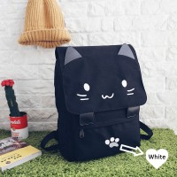 MC248 - Cute Catty Cat With PAWS Backpack / Light Weight Soft Fabric Casual School Bag