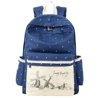 MC255 - Kawaii Vintage Style Cute Design Backpack / Girl's College High School Student Bag